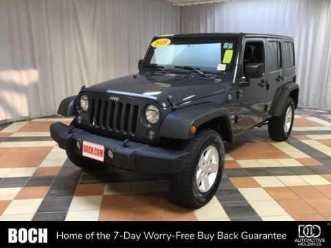 Pre-Owned 2018 Jeep Wrangler Unlimited JK Sport S 4x4 4WD