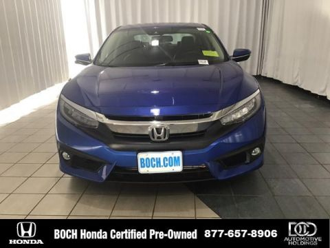 Certified Pre-Owned 2017 Honda Civic Touring CVT With Navigation